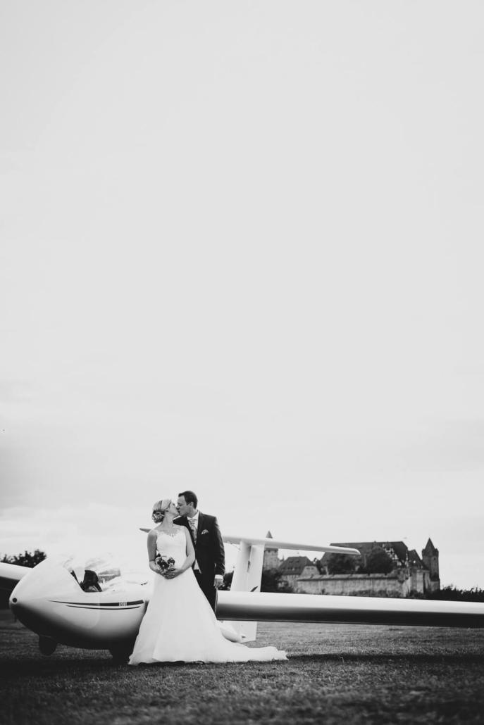 Hochzeitsfotograf für Coburg am Flugplatz Coburg